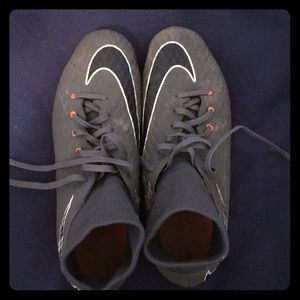Nike Hypervenom cleats with sock size 9 1/2